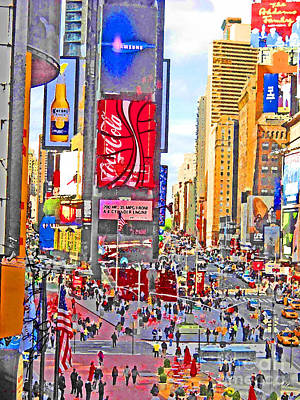 Photograph - Times Square by Art Mantia