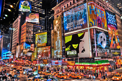 Typographic World Royalty Free Images - Times Square Royalty-Free Image by Randy Aveille