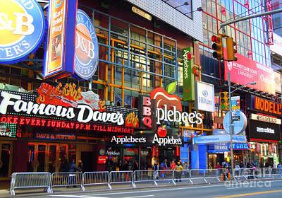 Times Square Razzle Dazzle Art Print by Anne Gordon
