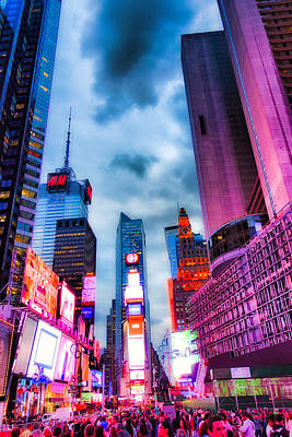 Photograph - Times Square South V by Robert Meyers-Lussier