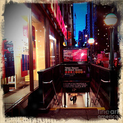 Art Print featuring the photograph Times Square Station by James Aiken