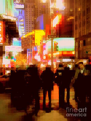 Photograph - Times Square - The Lights Of New York by Miriam Danar