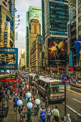 Photograph - Times Square by Theodore Jones