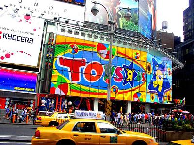 Photograph - Times Square Toys And Taxis by Cleaster Cotton