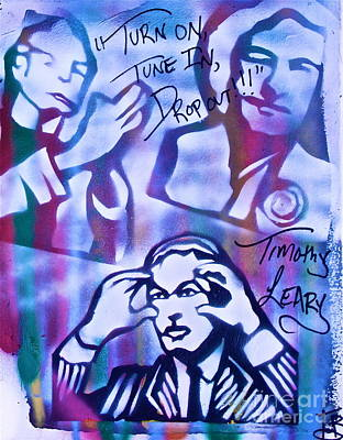 Free Speech Painting - Timothy Leary 1  by Tony B Conscious