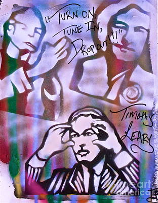 First Amendment Painting - Timothy Leary Red by Tony B Conscious