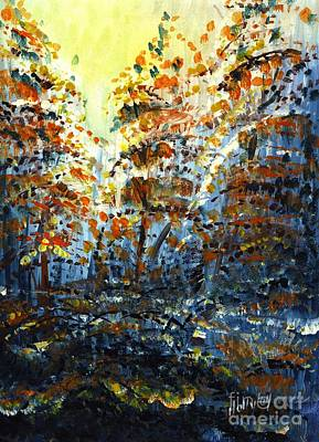 Painting - Tim's Autumn Trees by Holly Carmichael