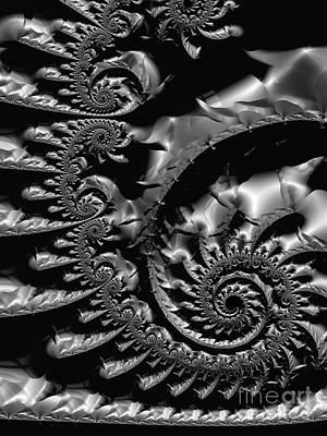 Fine Curved Digital Art - Tin  by Heidi Smith
