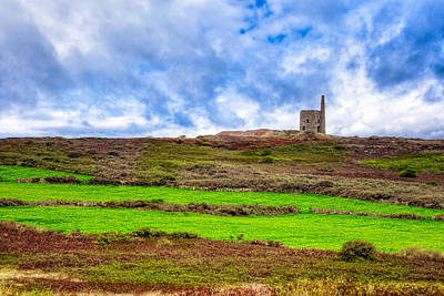 Photograph - Tin Mine Ruins - Cornwall Landscape by Mark E Tisdale
