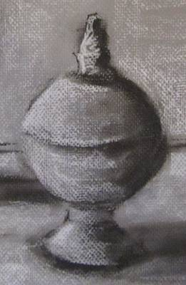Nj Drawing - Tin Orb Detail by Maria Milazzo