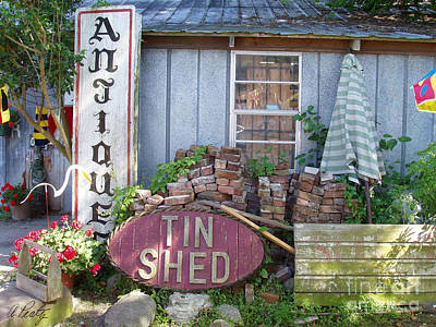 Photograph - Tin Shed Apalachicola Florida by Audrey Peaty