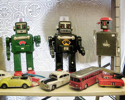 Toy Shop Photograph - Tin Toy Robots by David Thompson