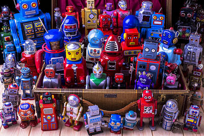 Photograph - Tin Toy Robots by Garry Gay