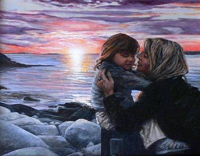 Rockport Massachusetts Painting - Tina And Fione by Eileen Patten Oliver
