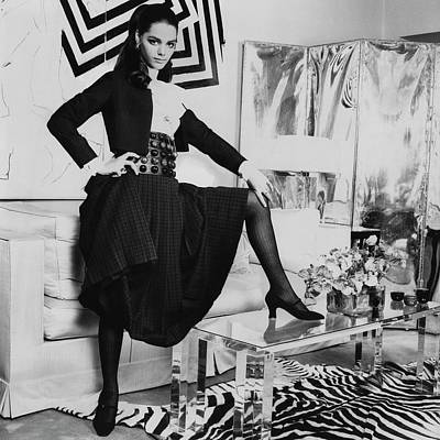 Full Skirt Photograph - Tina Aumont In A Living Room by Henry Clarke
