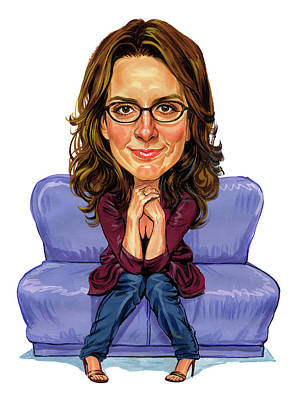 Tina Fey Art Print by Art