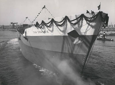 Archives Photograph - Tina Onassis The World�s Largest Tanker Launched by Retro Images Archive