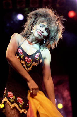 Tina Turner 1984 Art Print by Nancy Clendaniel