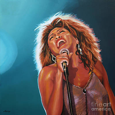 With Painting - Tina Turner 3 by Paul Meijering