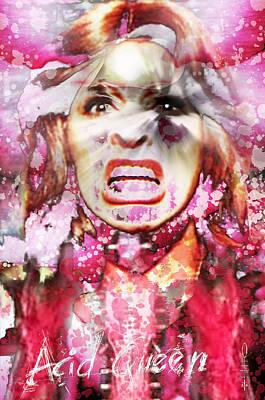 Queen Mary Mixed Media - Tina Turner by Dray Van Beeck