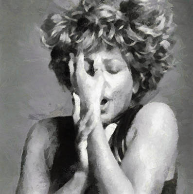Tina Turner - Emotion Art Print by Paulette B Wright