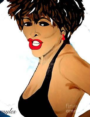 Tina Turner Fierce 3 Art Print