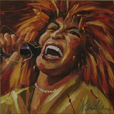 Tina Turner Painting - Tina Turner by Michael Wardle