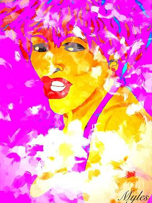 Painting - Tina Turner Soft And Free 2 Saundra Myles by Saundra Myles