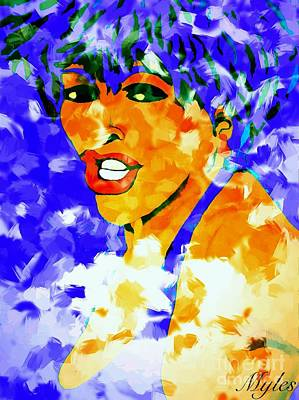 Painting - Tina Turner Soft And Free  by Saundra Myles