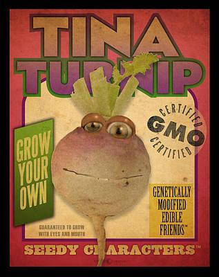 Digital Art - Tina Turnip Seed Pack by Tim Nyberg