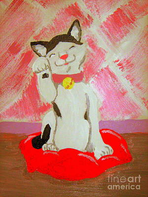Art Print featuring the painting Tinkadinkadoo by Wendy Coulson