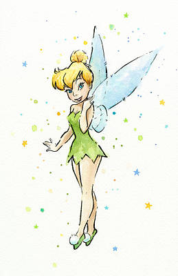 Fairy Wall Art - Painting - Tinker Bell by Olga Shvartsur
