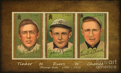 Shortstop Digital Art - Tinker To Evers To Chance by Lianne Schneider