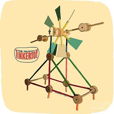 Tinker Toy Digital Art - Tinker Toys by Christa Cruikshank