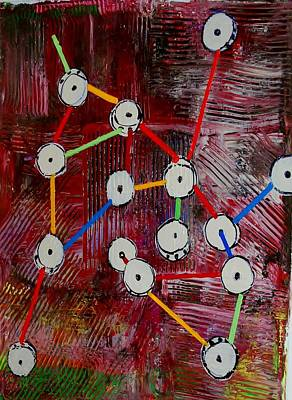 Tinker Toy Painting - Tinker Toys by Elaine Rexdale
