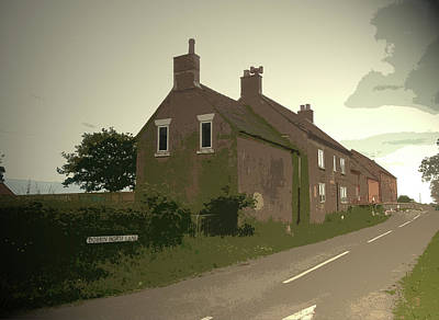 Junction Drawing - Tinkers Inn Near Ashbourne, Situated At The Junction by Litz Collection