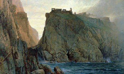 Cornish Wall Art - Painting - Tintagel On The Cornish Coast by W T Richards