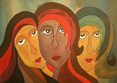 Tinted Girls Art Print by Remya Damodaran
