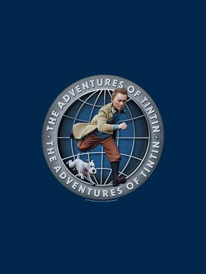 Epic Digital Art - Tintin - Globe by Brand A