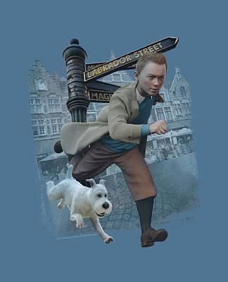 Epic Digital Art - Tintin - Labrador Street by Brand A