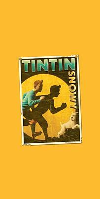 Epic Digital Art - Tintin - Tintin And Snowy Flyer by Brand A