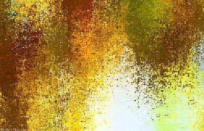 Tiny Blocks Digital Abstract - Earth Tones Art Print by Debbie Portwood