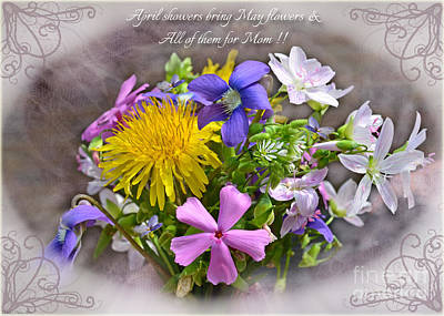 Photograph - Tiny Boquet Mother's Day Card by Debbie Portwood
