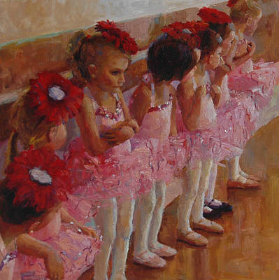 Child Dancers Painting - Tiny Dancers by Jeanne Young