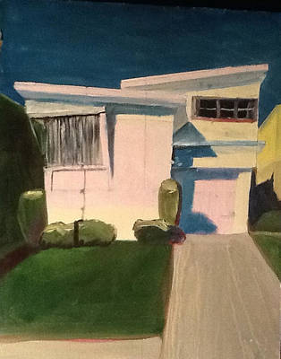 Bay Area Figurative Painting - Tiny Houses Ticky Tacky 17 by S Kendall Osborne