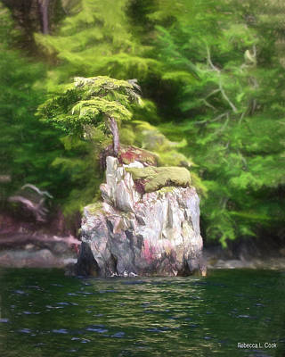 Photograph - Tiny Island Inside Passage Alaska by Bellesouth Studio