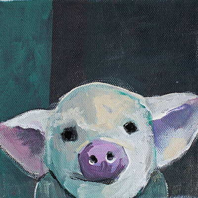 Animals Wall Art - Photograph - Tiny Pig by Cathy Walters