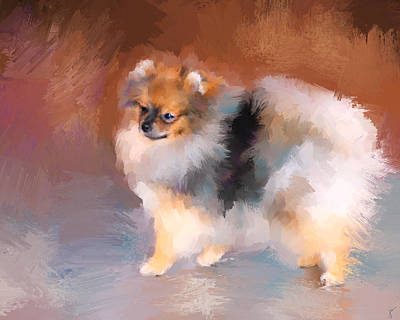 Painting - Tiny Pomeranian by Jai Johnson
