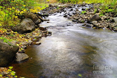 Tiny Rapids At The Bend  Art Print by Jeff Swan