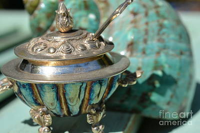 Sterling Silver Photograph - Tiny Tarnished Silver Tureen by Carol McGunagle